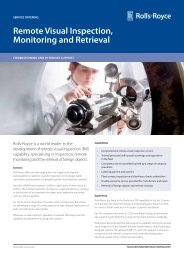 Remote Visual Inspection, Monitoring and Retrieval - Rolls-Royce