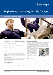 Engineering Laboratory and Rig Design - Rolls-Royce