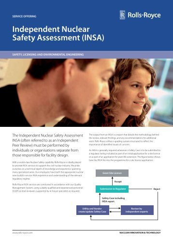 Independent Nuclear Safety Assessment (INSA) - Rolls-Royce