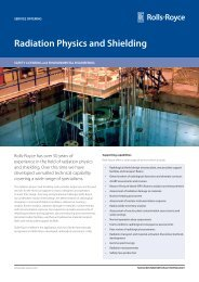 Radiation Physics and Shielding - Rolls-Royce