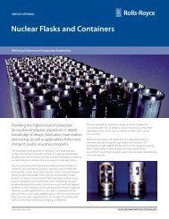 Nuclear Flasks and Containers - Rolls-Royce