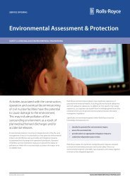 Environmental Assessment & Protection - Rolls-Royce