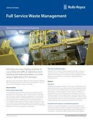 Full Service Waste Management - Rolls-Royce