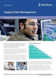 Supply Chain Management - Rolls-Royce