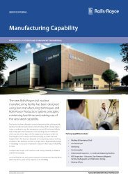 Manufacturing Capability - Rolls-Royce