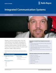Integrated Communication Systems - Rolls-Royce