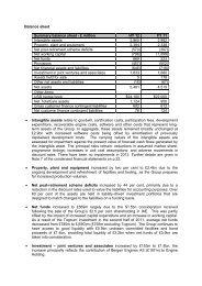 Balance sheet Summary balance sheet - £ million HY ... - Rolls-Royce