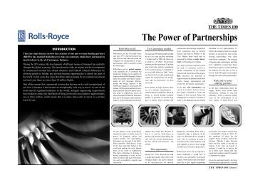 The Power of Partnerships - Rolls-Royce