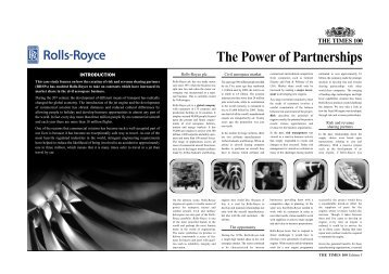 The Power of Partnerships - Rolls-Royce