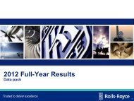 Download the 2012 full year results appendices data ... - Rolls-Royce