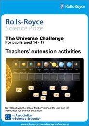 Teachers' extension activities - Rolls-Royce