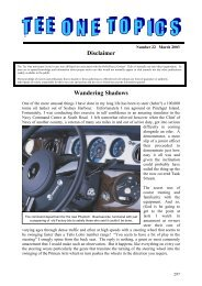 Issue22 Mar03 - Rolls Royce & Bentley Owners Club - South Africa