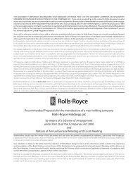 Scheme Circular - Rolls-Royce
