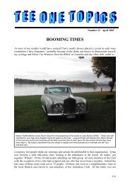 Issue23 Apr03 - Rolls Royce & Bentley Owners Club - South Africa