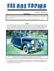 Disclaimer - Rolls Royce & Bentley Owners Club - South Africa