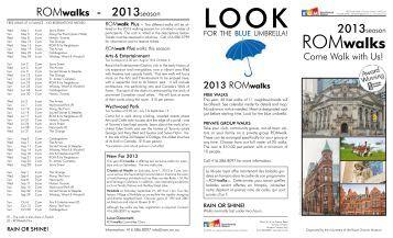 ROMwalks brochure - Royal Ontario Museum