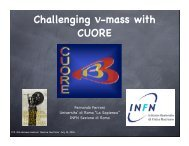 Challenging nu-mass with CUORE - INFN Sezione di Roma