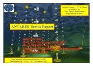 ANTARES Status Report - INFN Sezione di Roma