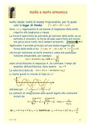 meccanica classica - INFN Sezione di Roma