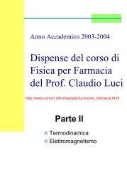 Termodinamica ed Elettromagnetismo - INFN Sezione di Roma