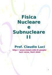File completo (corso 2005-2006) - INFN Sezione di Roma