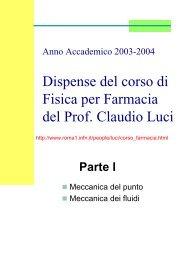 Meccanica del punto e dei fluidi - INFN Sezione di Roma