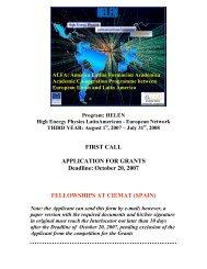 October 20, 2007 FELLOWSHIPS AT CIEMAT (SPAIN)