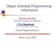 Object Oriented Programming: Inheritance - INFN Sezione di Roma