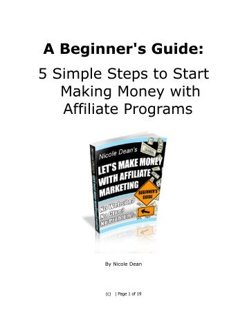 5 Simple Steps to Start Making Money with Affiliate Programs