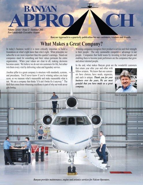 What Makes a Great Company? - Banyan Air Service
