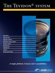A single platform, 8 lenses and ∞ possibilities. - Docter® Optics