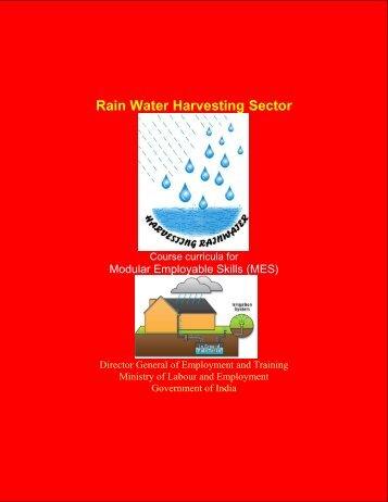 Rain Water Harvesting Sector - Directorate General of Employment ...