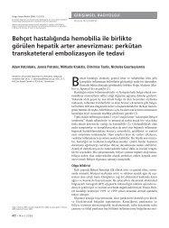 Behçet hastalığında hemobilia ile birlikte görülen hepatik arter ...