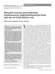Manyetik rezonans görüntülemede miyelinasyonun de ...