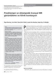 Preeklampsi ve eklampside kranyal MR görüntüleme ve klinik ...