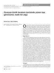 Ovaryan kistik teratom içerisinde yüzen top görünümü: nadir bir olgu
