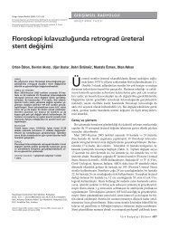 Floroskopi kılavuzluğunda retrograd üreteral stent değişimi