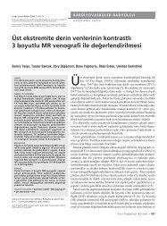Üst ekstremite derin venlerinin kontrastlı 3 boyutlu MR venografi ile ...