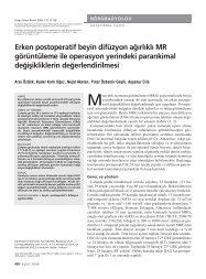 Erken postoperatif beyin difüzyon ağırlıklı MR görüntüleme ile ...