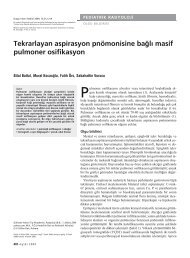 Tekrarlayan aspirasyon pnömonisine bağlı masif pulmoner osifikasyon