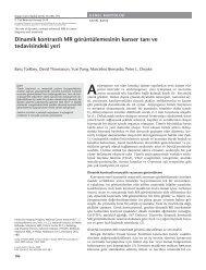 Dinamik kontrastlı MR görüntülemesinin kanser tanı ve tedavisindeki ...