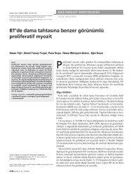 BT'de dama tahtasına benzer görünümlü proliferatif myozit