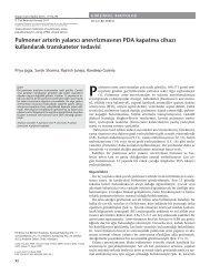 Pulmoner arterin yalancı anevrizmasının PDA kapatma cihazı ...