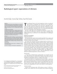 Radiological report: expectations of clinicians - Diagnostic and ...