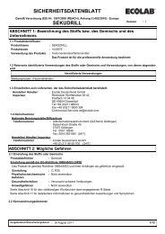 Sicherheitsdatenblatt Sekudrill - feedback-online.de