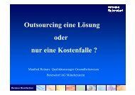 Outsourcing eine Lösung oder nur eine Kostenfalle ?