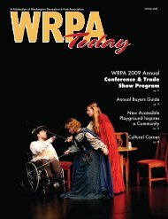 WRPA 2009 Annual Conference & Trade Show Program