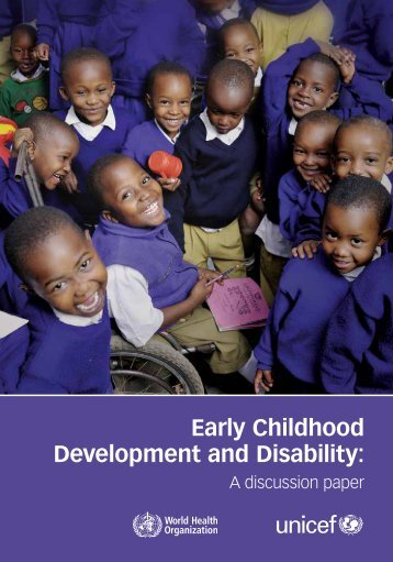 Early Childhood Development and Disability: - World Health ...