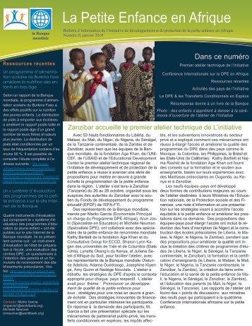La Petite Enfance en Afrique - Consultative Group on Early ...