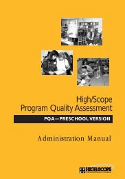 High/Scope Program Quality Assessment - Consultative Group on ...